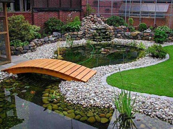 beautiful backyard fish pond