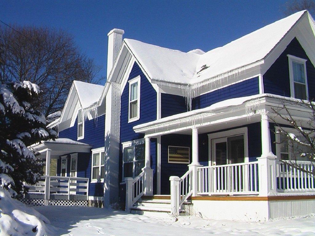 WoW! Blue Against Stark White Eye Popping Blue Color Home