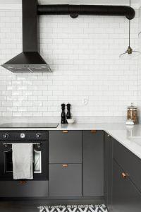Grey kitchen with copper handles | Kitchen | Pinterest ...