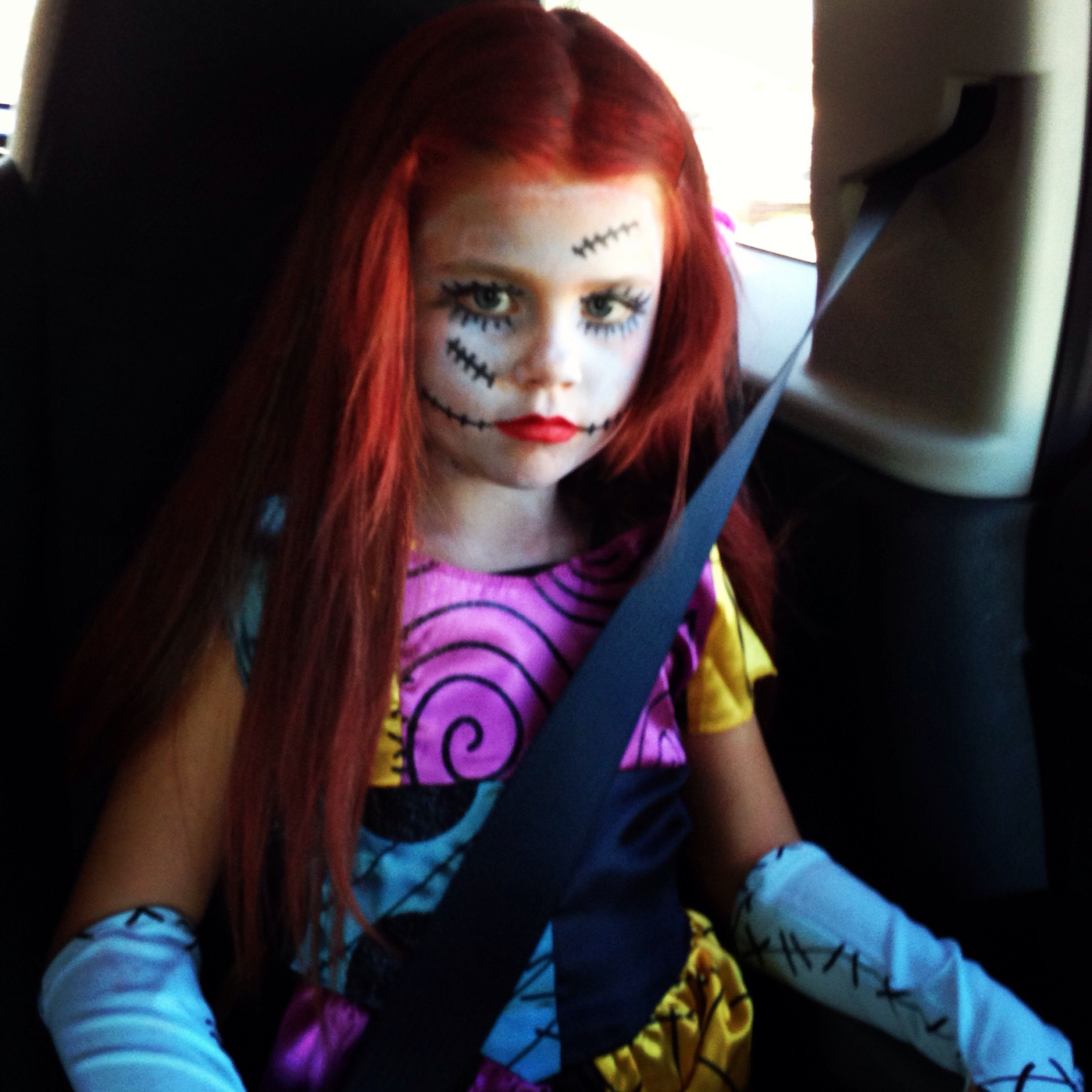 The Nightmare Before Christmas Sally Costume Makeup Face