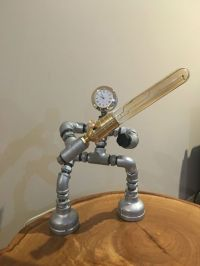 Steampunk Edison light Robot Star wars pipe / Desk Lamp ...