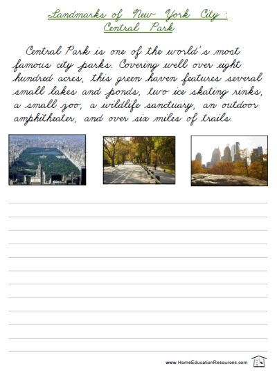 Free Printable Packet Words Cursive