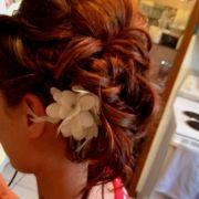 bridal shower hair chignon
