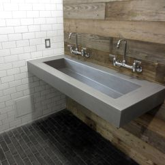 Concrete Kitchen Sink Black Distressed Cabinets Custom Floating Wall Mount By Trueform
