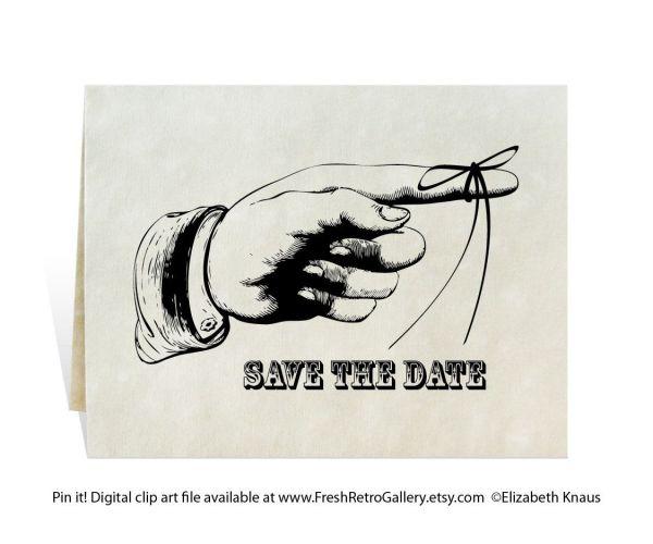 save date digital clip art