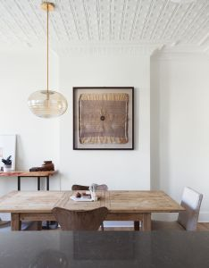 Our ripple glass pendant spotted inside this newly renovated ridgewood townhouse curbed nyclockmenumore arrow also part from demolition to dream home pendants rh pinterest