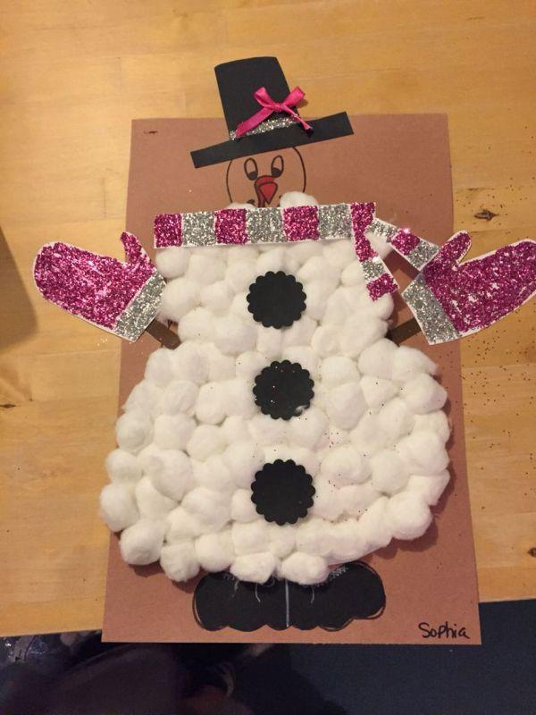 Tom Turkey Disguised Snowman Pinned