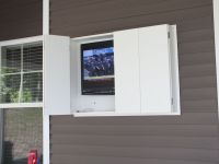 Outdoor TV cabinet made from weatherproof PVC. | Storage ...