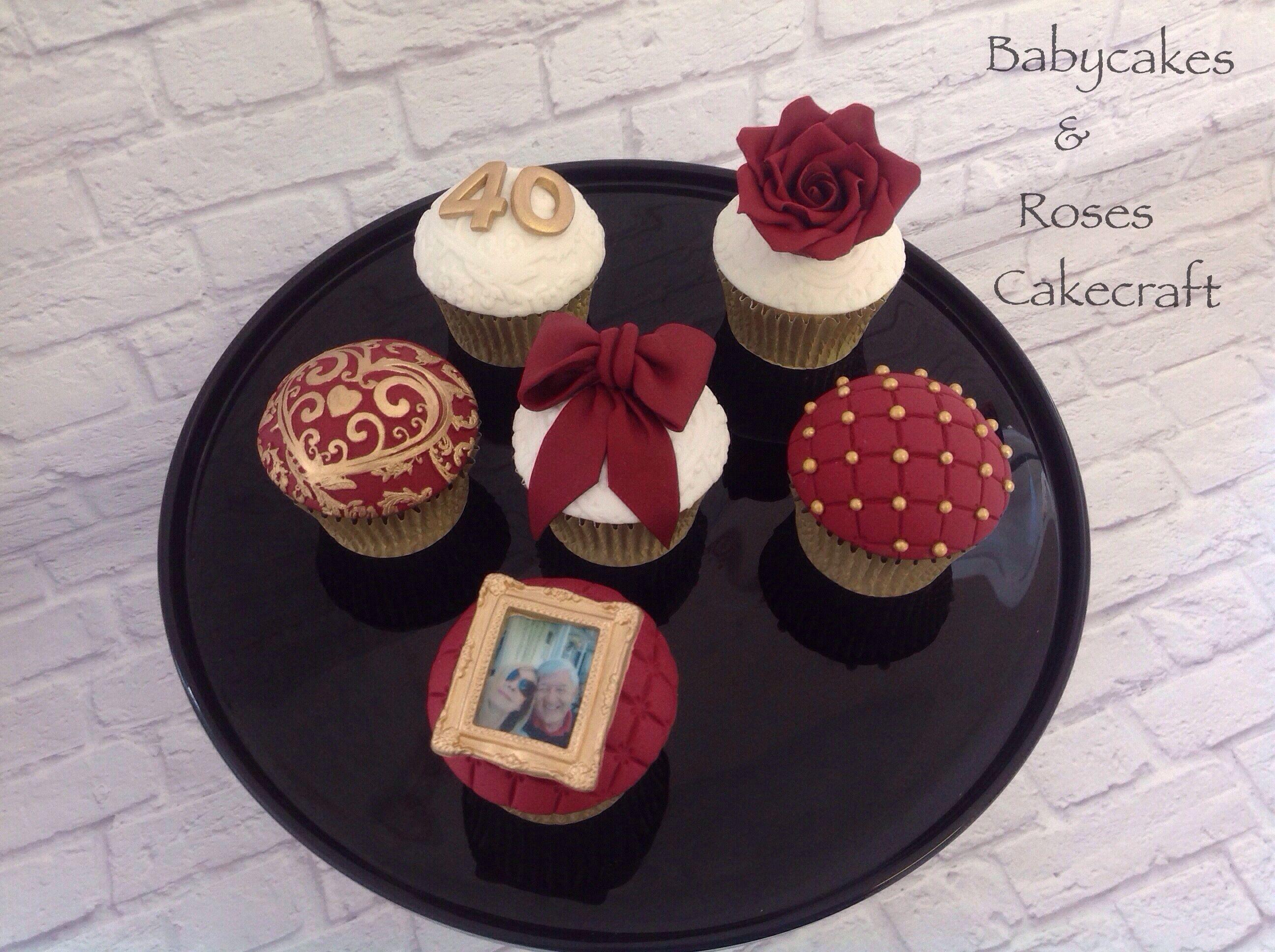Ruby Wedding Anniversary Cupcakes Babycakes Amp Roses
