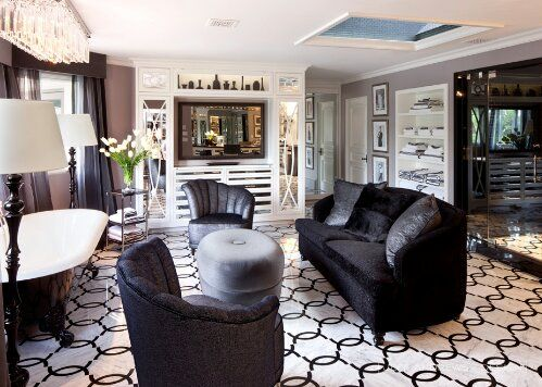 Kardashians Home Luxury Design Indulgences Interior Design Black