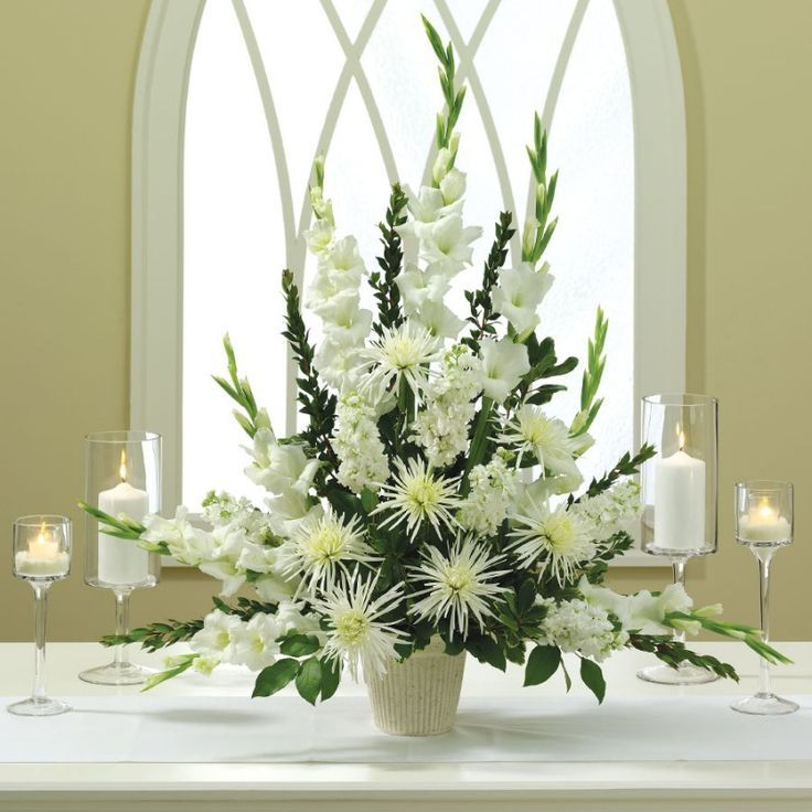 White Mums Flower Arrangements