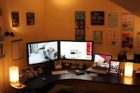 office setup | Home Office + Gaming Setup | Office ...