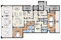 Floor Plan Residence B | Infinity Longboat Key Condos For ...