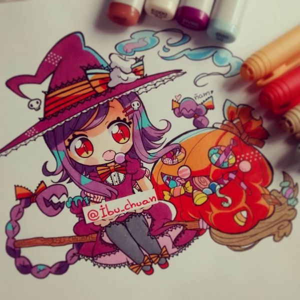 """""""painted With Pen Bic Marker Copic Sketch And Pilot White"""" Listooo Se Art"""