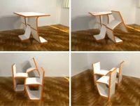 Modular Convertible Chairs, Table & Storage Furniture Set ...