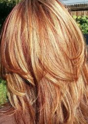 blonde hair with red and auburn