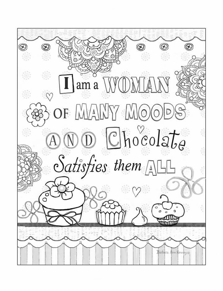 Page from artist, Barbara Ann Kenney's coloring book