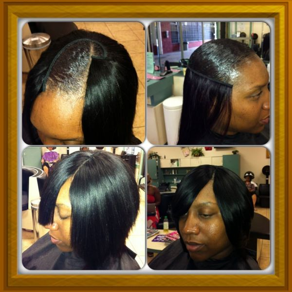 20 Invisible Part Quick Weave Hairstyles Bangs Pictures And Ideas