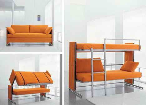 Bunk Bed Sofa Using Multifunction Furniture Design For Small House