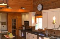Creative Cain Cabin: White Kitchen in a Log Home | Home ...
