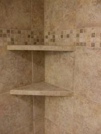 Tile Shower Shelves   Bathroom remodel   Pinterest   Tile ...