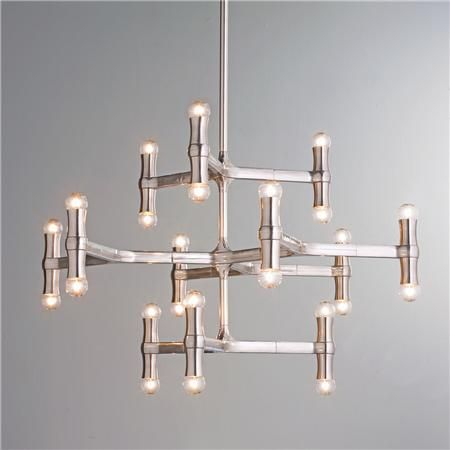 Modern Bamboo Inspired Chandelier Contemporary