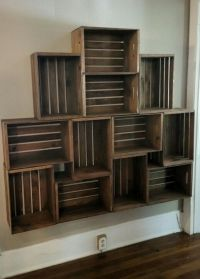 Floating crate shelving | My Projects | Pinterest ...
