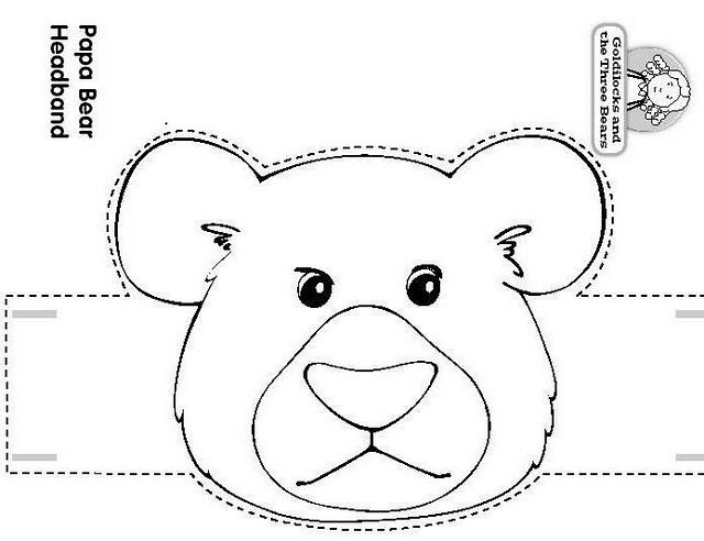 Craft a Fairy TalePapa Bear Headband.Goldilocks