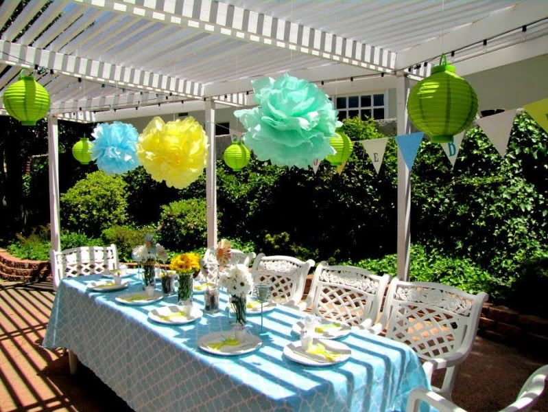 Lime Blue & Yellow Garden Baby Shower Kara's Party Ideas The