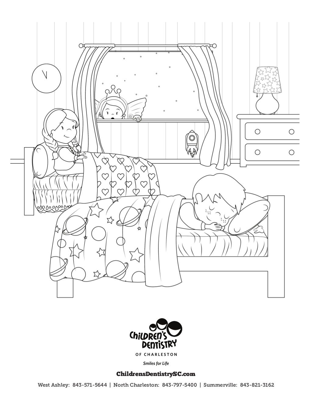 Free Toothfairy Coloring Sheet By Children S Dentistry Of