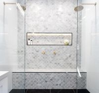 Marble feature tiles | interiors / bathroom | Pinterest ...