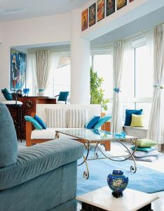 Soothing shades of aqua in  mumbai flat from the good housekeeping also rh pinterest