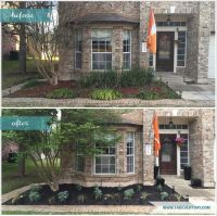 Before and after Central Texas front yard garden makeover ...