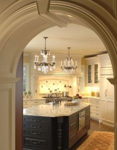 kitchen fit for king beautiful archway entrance chandelier lighting wooden also rh pinterest