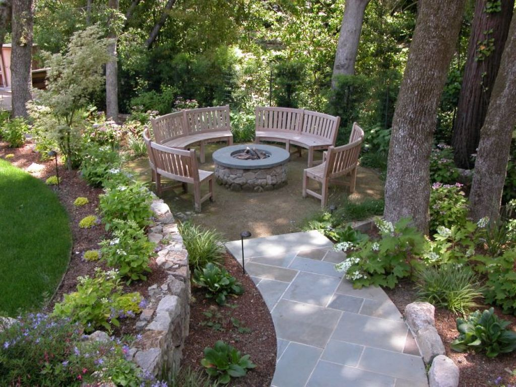 Outdoor Enchanting Garden Seating Ideas Giving Comfy And