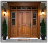 craftsman style entry doors with sidelights and transom ...