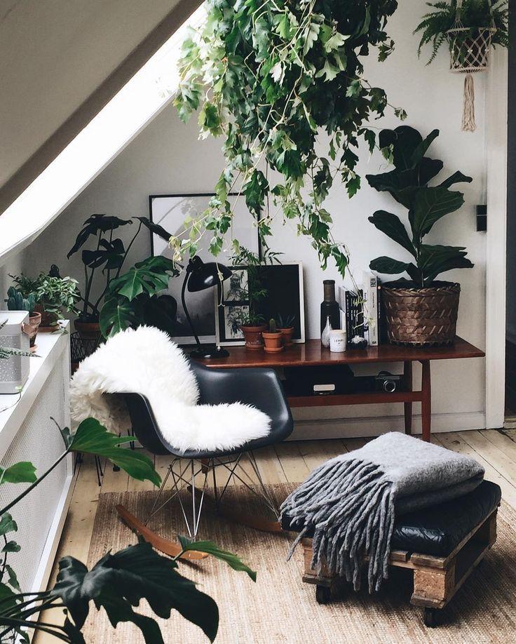 Copenhagen wilderness neutrals with plants natural office work space bedroom decor also rh pinterest