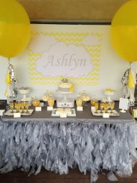 Use a yellow and gray color scheme for a gender neutral ...