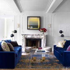 Blue Velvet Sofa Living Room Ideas Outdoor Wicker Sofas 20 Dazzling Rooms Your Pinterest Dreams Are Made Of Elle