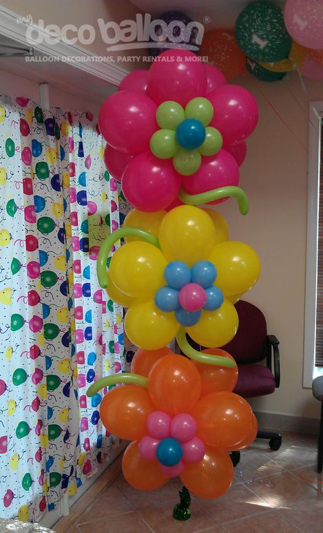 Flower Birthday Balloons Design Idea No Link Only