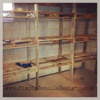Pallet Shelves in our Basement | Simply Janelle Designs ...