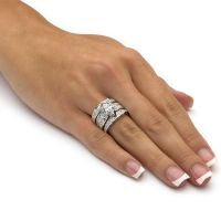 3.05 TCW Marquise-Cut Cubic Zirconia Sterling Silver ...