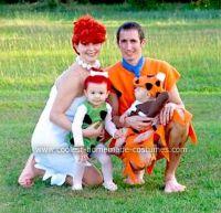 Coolest Homemade Flintstones Family Costume   Flintstones ...