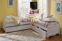 L-shaped Beds with Corner Unit | corner utilisation with L ...
