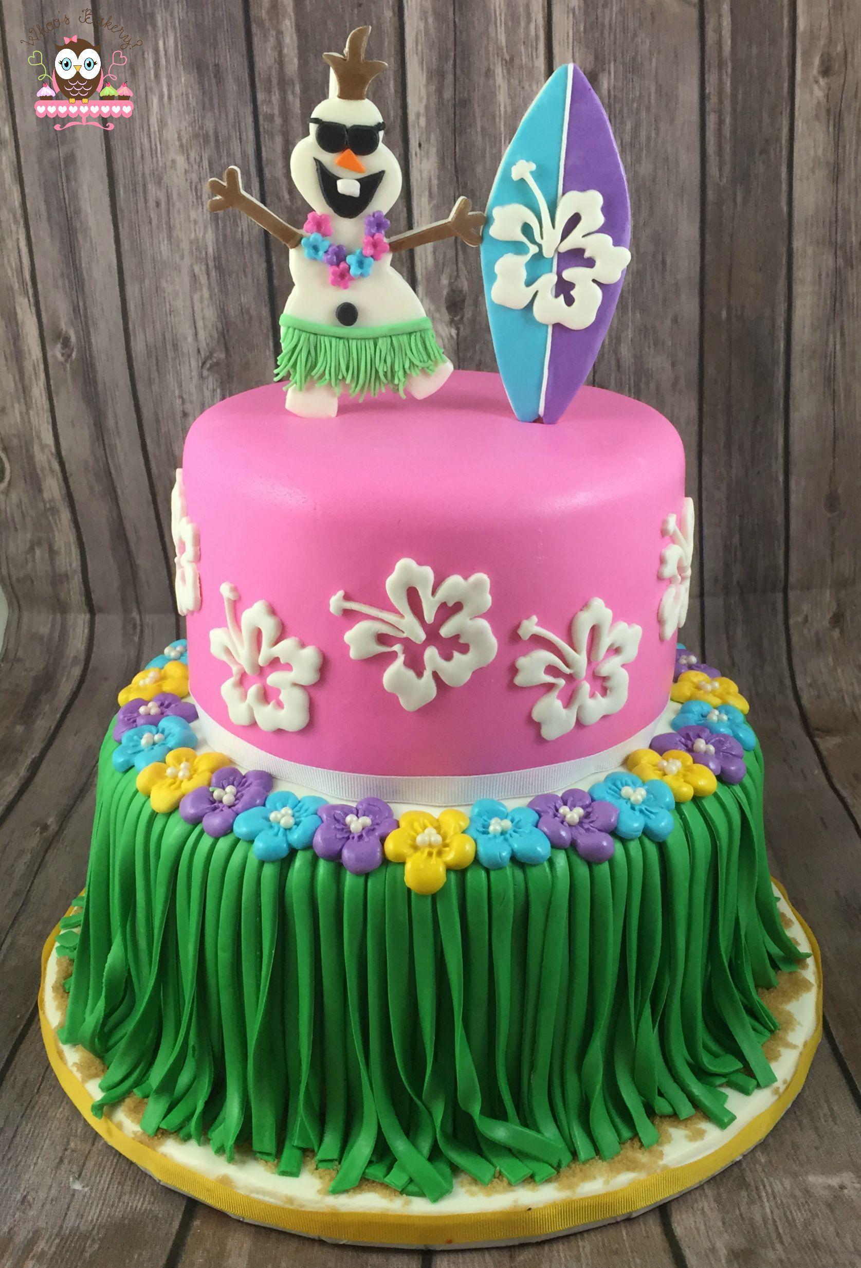 Summer Olaf Cake Summer Frozen Cake Hawaiian Cake Beach