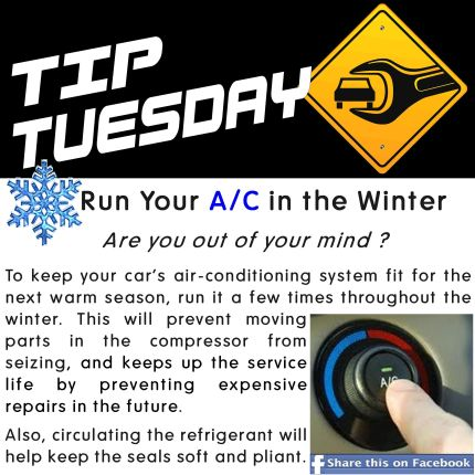 Car Care Tip Run Your A C In The Winter Are You Out Of