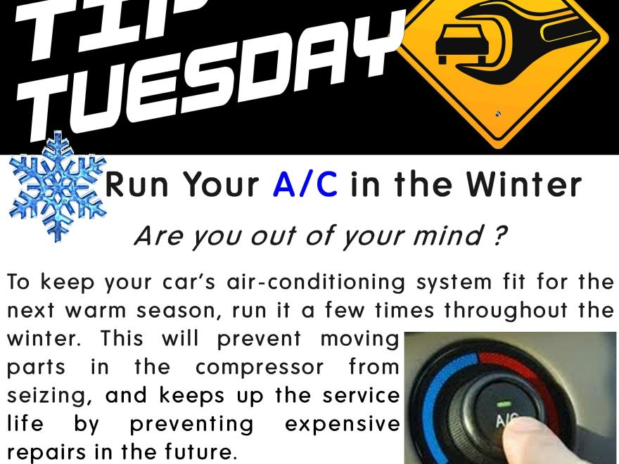 Car Care Tip Run Your A C In The Winter Are You Out Of Your Mind To Keep Your Cars Ai