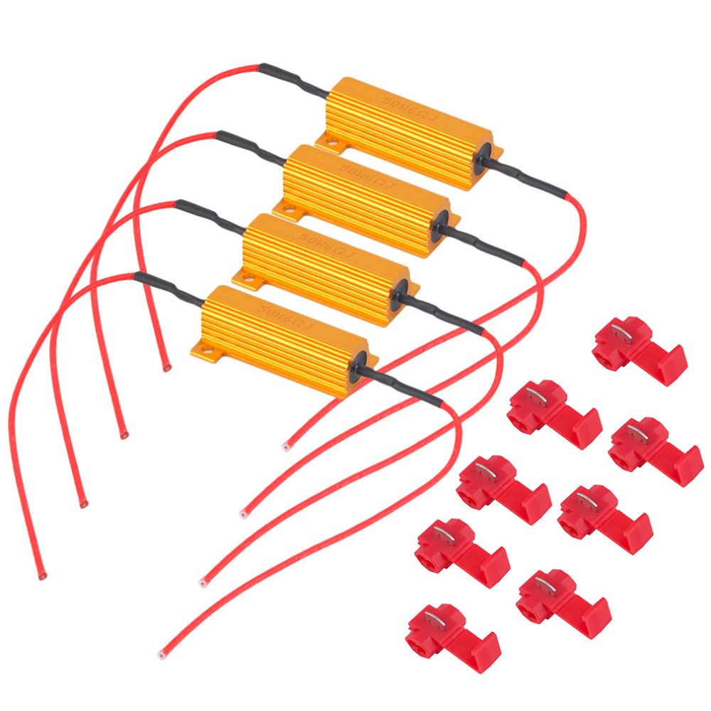 hight resolution of 4pcs alloy auto car vehicle professional 50w load resistor 6ohm fix led bulb fast hyper flash
