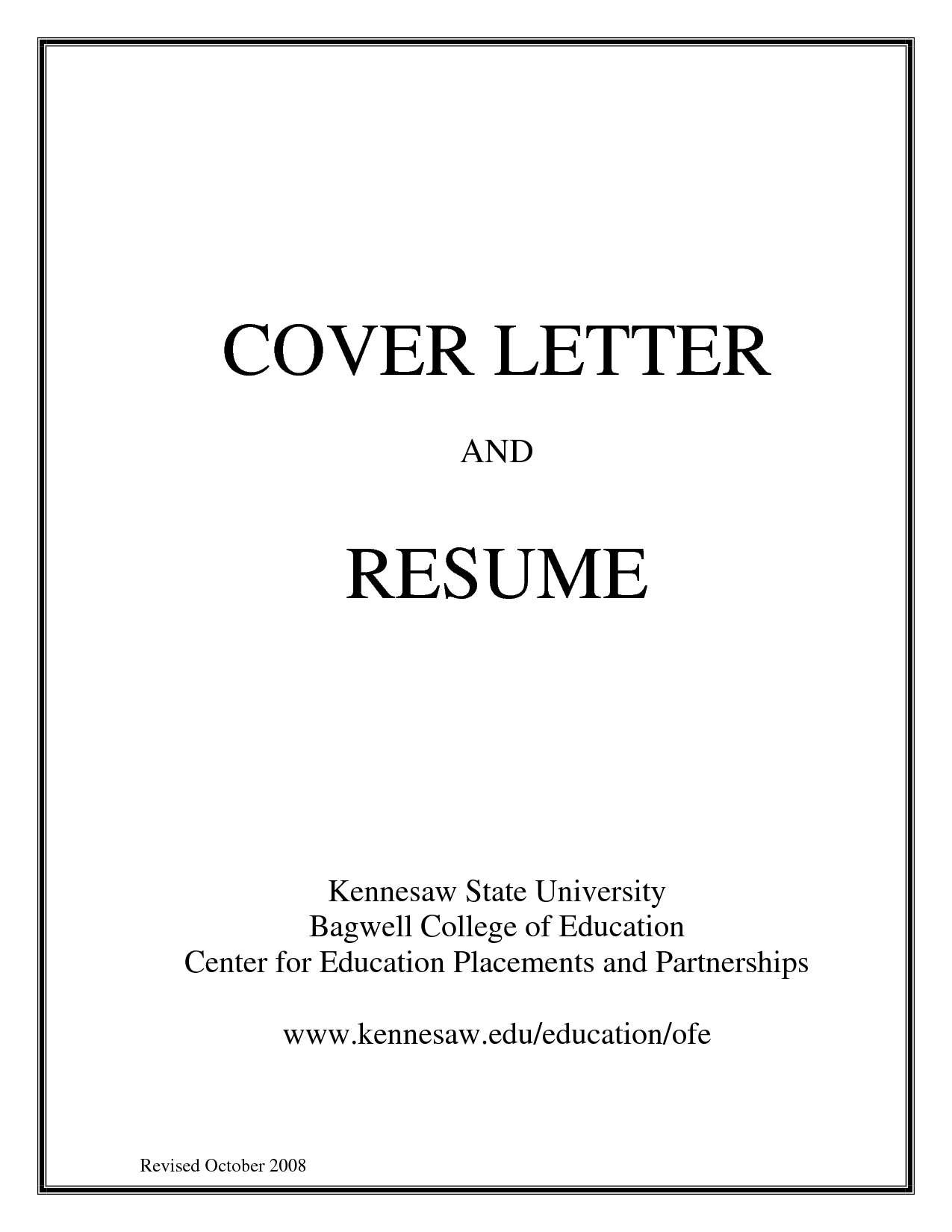 Resume Title Page Example - Examples of Resumes