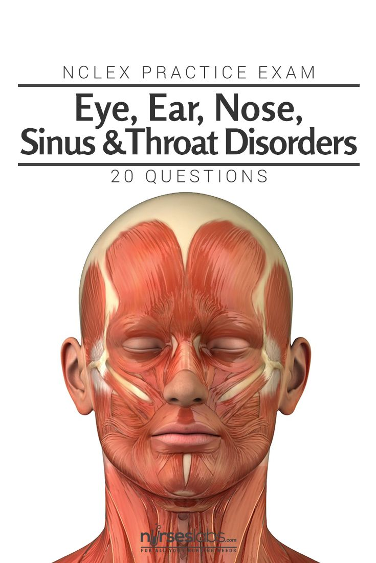 NCLEX Exam Eye Ear Nose Sinus and Throat Disorders